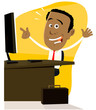 Cartoon Black Businessman