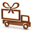 Free shipping concept. Truck and gift.