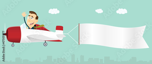 Summer Banner Advertising Airplane