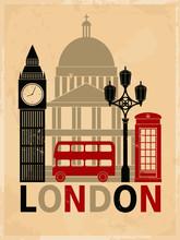 Vintage Londres affiche