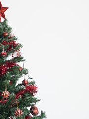 christmas tree border isolated on white