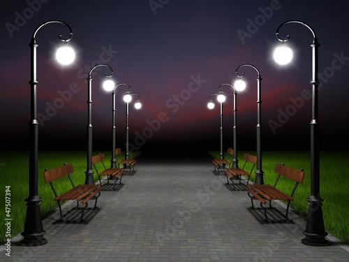 A romantic night scene - 47507394