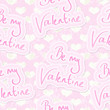 Be My Valentine Seamless Background Tile
