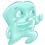 Illustration of a happy tooth - 47510108