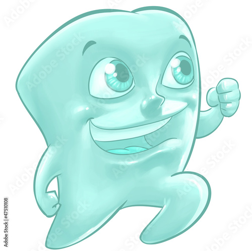 Illustration of a happy tooth