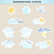 Peeling Weather Stickers - Set One