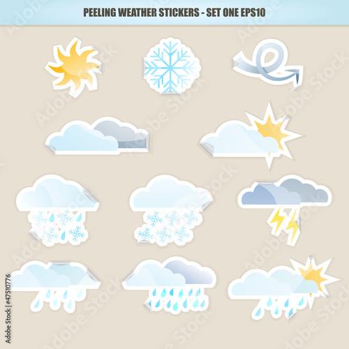 Peeling Weather Stickers - Set One