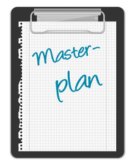 Klemmbrett Masterplan