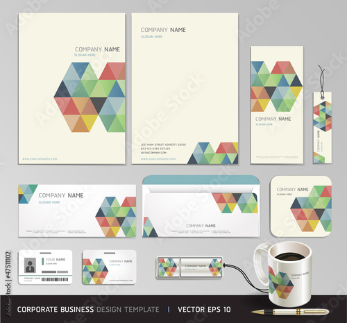 Corporate identity business set design. Abstract background