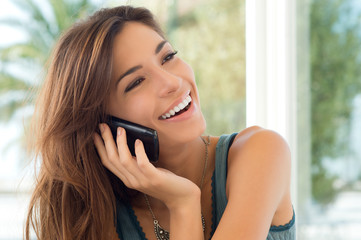 Young Woman Talking On Cell Phone