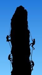 Four Rock Climbers