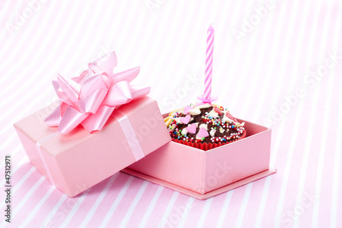 birthday / Valentine cupcake with a candle