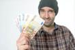 Mann mit Banknoten