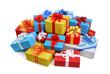 Ein bunter Haufen von Geschenken