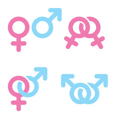 Male and female symbols combination