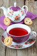 Cup of tea with cookies