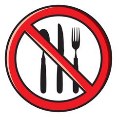 no eating, no food allowed