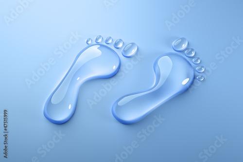 canvas print picture Wasser-Fußabdruck