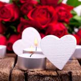 Fototapety Rosen und Herzen - Valentinstag