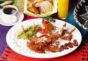 Enchiladas potosinas. Comida mexicana