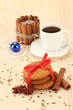 Cookies for Santa: Conceptual image of ginger cookies, milk and