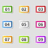Tabs with numbers