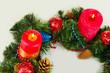 Beautiful Christmas wreath isolated on white