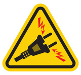 Triangle High Voltage Warning Sign