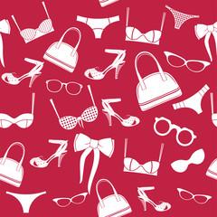 seamless fashion accessories pattern