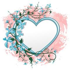 Valentine's Day Romantic Love Heart Frame-Cuore Cornice di Fiori