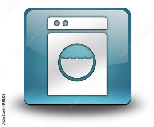 "Light Blue 3D Effect Icon ""Laundromat"""