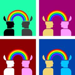 rainbow connecting people