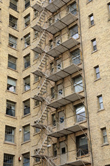 Quebec, emergency staircase in Montreal