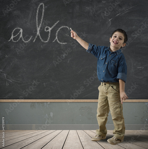Abc in blackboard