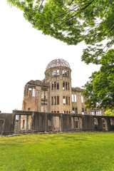 Atomic Bomb Dome in Hiroshima Peace Memorial Park. Unesco. Japan