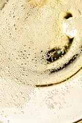 Details von Sektglas von oben