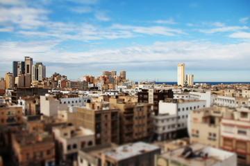 Tripoli città metropoli tilt shift