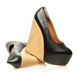 High Heels shoes in wedge design and with platform
