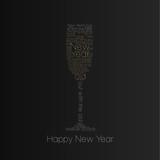 glass og champagne - nice typographic motive. poster