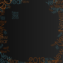 Happy New Year - typographic motive.
