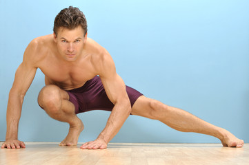 Side lunge stretch