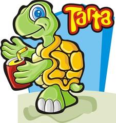 Tartaruga e refrigerante