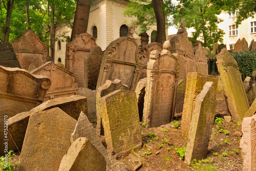 Old Jewish cemetery in Prague, europe