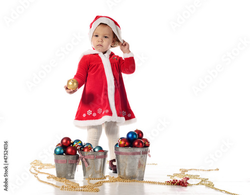 Santa helper little girl