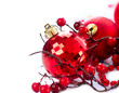 Christmas and New Year Baubles and Decorations isolated on White