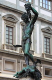 Statue of Perseus and Medusa in Florence, Italy poster