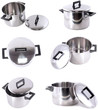 Collection of saucepans, made of stainless steel