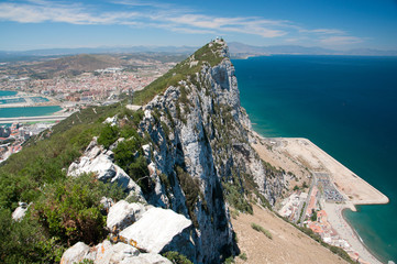 The Rock of Gibraltar, View of the Top.
