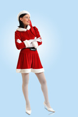 Attracive girl in santa clothes