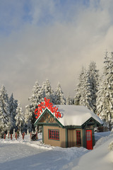 Santa's Workshop on the snow mountain